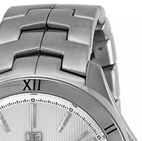 TAG Heuer 泰格豪雅 Link林肯系列 WAT2014.BA0951 男士机械手表 42mm 白盘 银色不锈钢带 圆形