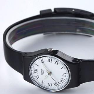 SWATCH 斯沃琪 LB178 女士石英手表 25mm 黑盘 黑色树脂带 圆形