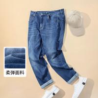 冬季韩版直筒休闲舒适弹力裤男士牛仔裤
