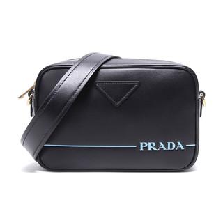 PRADA 普拉达 女士纯色牛皮拉链单肩斜挎包1BH093 2AIX F0002 V XPO 黑色