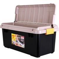 愛麗思IRIS 車載收納箱RV800 約60升車載蓋中蓋儲物箱收納箱后備箱整理箱 土黃/黑色