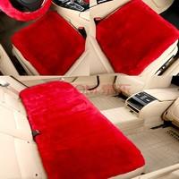 驰爵 汽车坐垫 冬季毛绒非羊毛保暖 三件套座垫