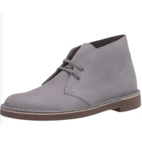 Clarks 其乐 Bushacre 2系列男士皮革系带平底沙漠靴26082286 Light Grey Nubuck 7
