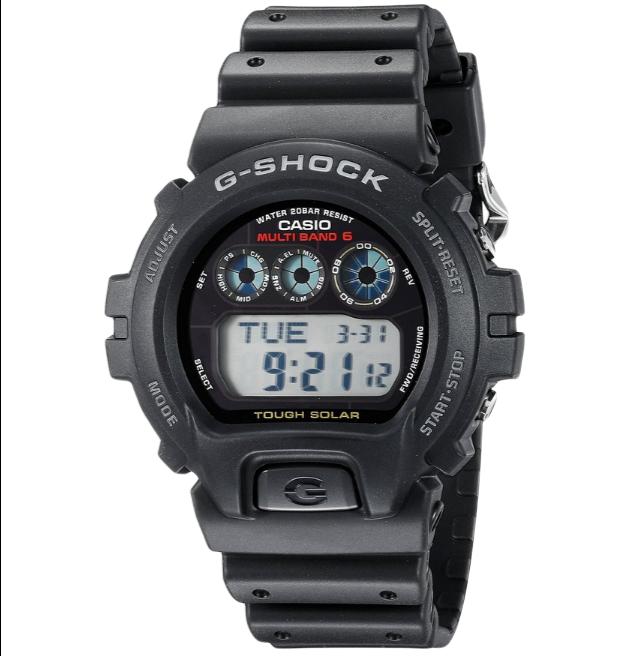 CASIO 卡西欧 G-SHOCK系列 GW6900-1 男士电波手表 41mm 黑盘 黑色树脂带 圆形