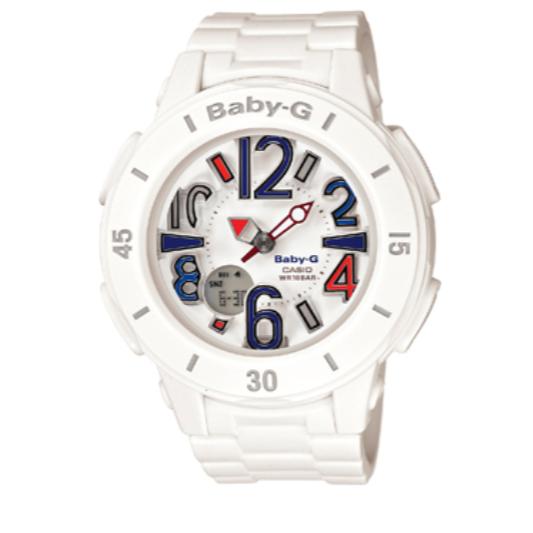 CASIO 卡西欧 BABY-G系列 BGA-170-7B2C 女士电子手表 43mm 白盘 白色树脂带 圆形