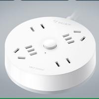 BULL 公牛 圆形多功能USB充电插排 1.8m (无USB)