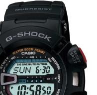CASIO 卡西歐 Mudman系列 G-9000-1V 男士電子手表 45mm 灰盤 黑色橡膠帶 圓形