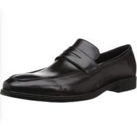ecco 爱步 墨本系列男士皮革套脚方跟乐福鞋621684 黑色43 M EU
