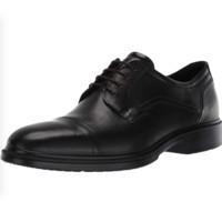 ecco 爱步 男士皮革系带方跟皮鞋62211401001 黑色40 EU