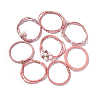 美丽义饰 粉色发圈8件套