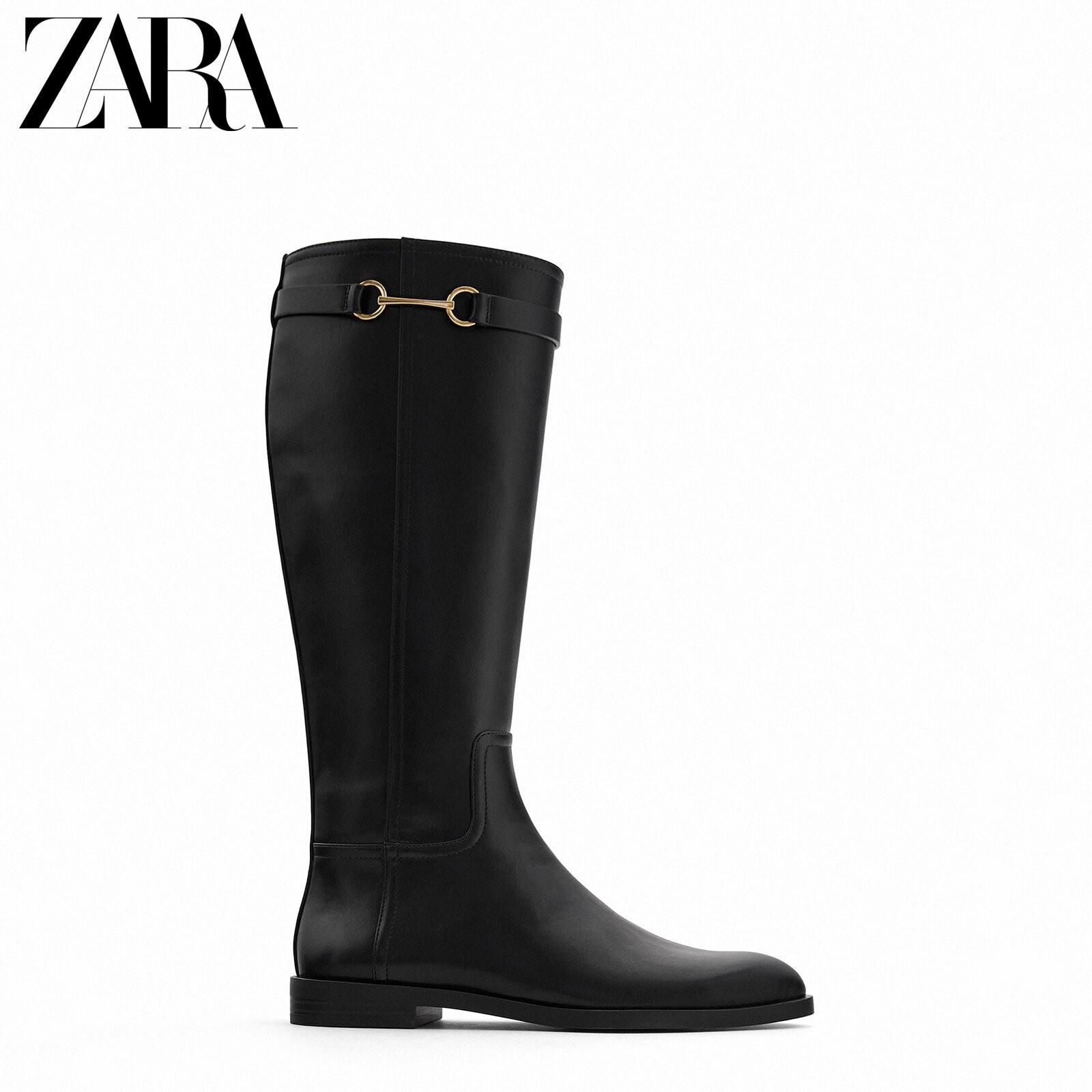 ZARA 13885610040  女士平底高筒靴