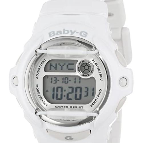 CASIO 卡西欧 BABY-G系列 BG169R-7A 女士电子手表 42.6mm 白盘 白色塑料表带 圆形