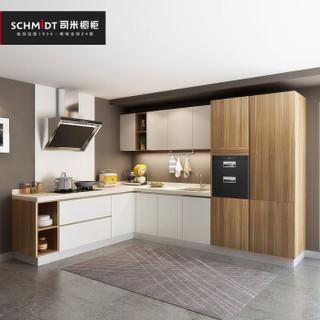 司米橱柜 整体厨房橱柜定制置物架灶台收纳柜一体简易组装经济型 1299/米