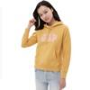 Gap 盖璞 碳素软磨系列女士棉质LOGO印花连帽卫衣620507-s 金黄色L