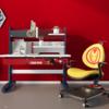 Disney 迪士尼 漫威联名系列 可升降儿童桌椅套装 HX1010学习桌+HX1019-M1N1人工椅 钢铁侠联名款 1.1m