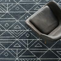 北欧表情/印度进口JAVI系列/HOVENIA几何纹简约地毯A款/2尺寸