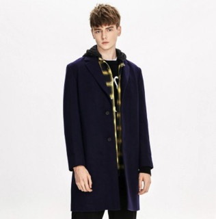 限尺码 : Trendiano 欧时力 3GC334755P730 男士羊毛混纺大衣