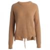 ochirly 欧时力 女士羊毛圆领织带不规则长袖针织衫1GY4030080