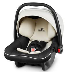 德国怡戈(Ekobebe)新生儿婴儿提篮式儿童0-15个月宝宝便携式摇篮车载手提篮3C认证EKO-007米黑色