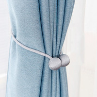 米良品 创意简约磁力窗帘扣 一对装