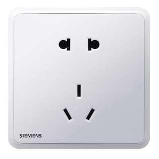 SIEMENS 西门子 灵蕴 正位五孔插座 白色