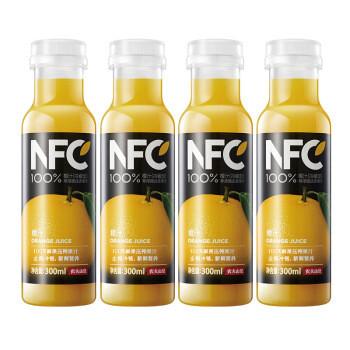 限地区:NONGFU SPRING 农夫山泉 NFC果汁 鲜榨橙汁 300ml*4瓶 *8件