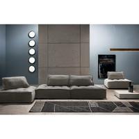特惠NORHOR来自荷兰ASIADES系列意大利设计皮埃蒙特布艺沙发灰色Y