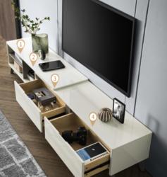 CHEERS 芝华仕  PT020 钢化玻璃可伸缩电视柜