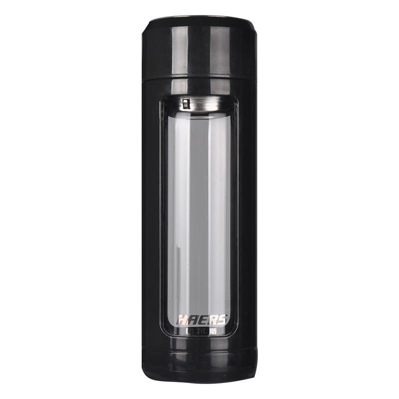 HAERS 哈尔斯 高硼硅玻璃杯 纯黑色 340ml