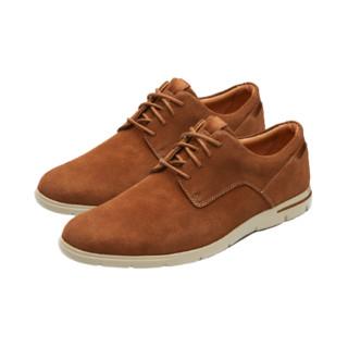 Clarks 其乐 Vennor Walk系列 261317497 男士皮革系带低帮平跟休闲鞋