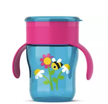 AVENT 新安怡 SCF782/17 九安士自然啜饮杯 粉色蜜蜂 260ml