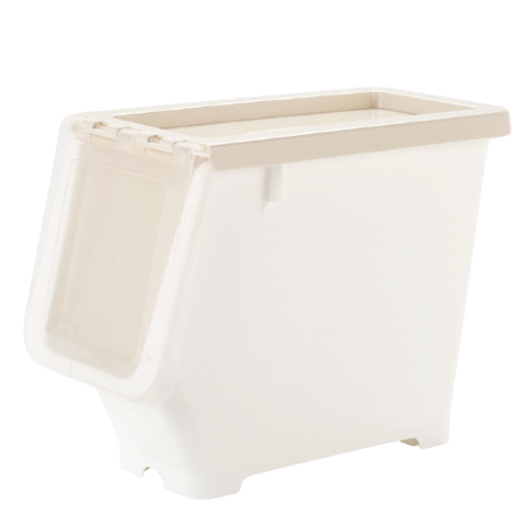 BELO 百露 前侧开式收纳箱 奶白色 小号