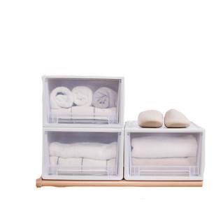 BELO 百露 收纳箱抽屉式收纳柜塑料透明玩具零食收纳盒衣服衣物衣柜收纳整理箱 加厚大号单个装