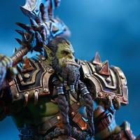 玩模总动员:拯救世界的大酋长,暴雪《魔兽世界》萨尔雕像 开箱评测