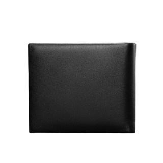 pierre cardin 皮尔·卡丹 男士牛皮敞口短款钱包J8A502-210402A 黑色