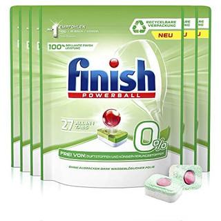 中亚prime会员 : Finish 亮碟 0%多效合一洗碗机专用洗涤块 27块×6袋