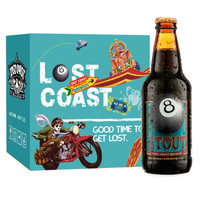 LOST COAST 迷失海岸 黑八世涛啤酒 355ml*6瓶 *3件