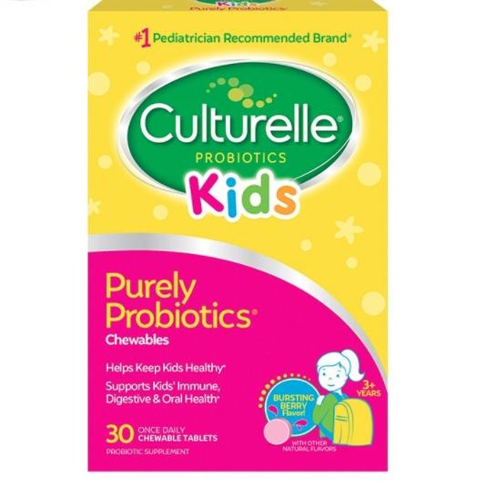 Culturelle 康萃乐 儿童益生菌咀嚼片 莓果口味 30粒 2件