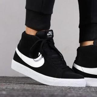 NIKE 耐克 Blazer开拓者运动鞋休闲鞋高帮板鞋 864349-002 黑色 36