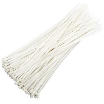 京东PLUS会员:保拉(Paola) 白色尼龙扎带4.8×300mm(100根)捆/绑/理/束线带5855 *18件