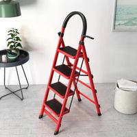 移动专享:零梦 家用折叠梯 红色四步梯