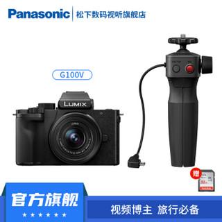 松下(Panasonic)G100 vlog微单/单电数码相机 4K视频拍摄 专业收音 G100+12-32mm+手柄