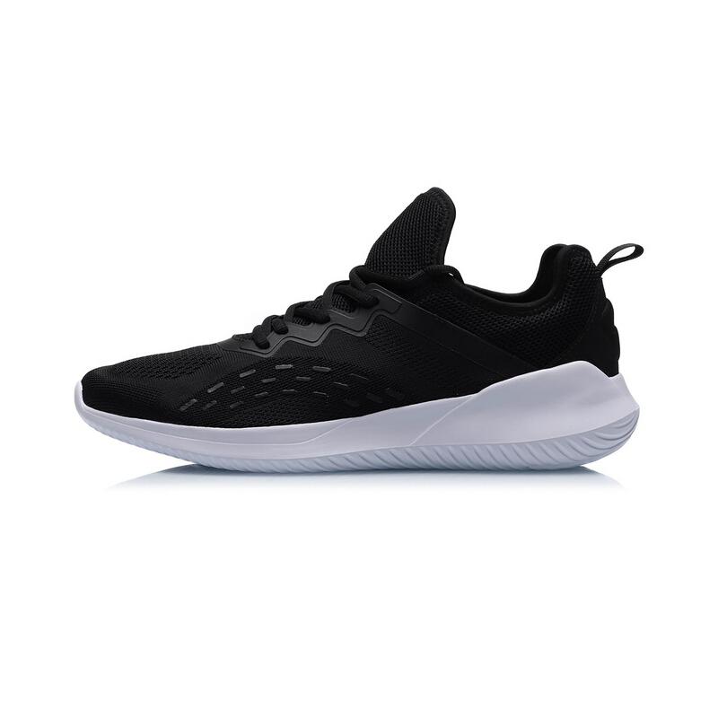 LI-NING 李宁 男士跑鞋 ARHP101-3 标准黑/标准白 44