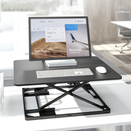 Brateck站立办公升降台式电脑桌 坐站交替办公写字书桌子 DWS29-01