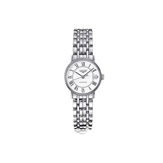 LONGINES 浪琴 时尚系列 L43214116 女士机械手表 25.5mm 白盘 银色精钢表带 圆形
