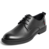 BeLLE 百丽 男士牛皮圆头系带低跟正装皮鞋6YK01CM0 黑色41