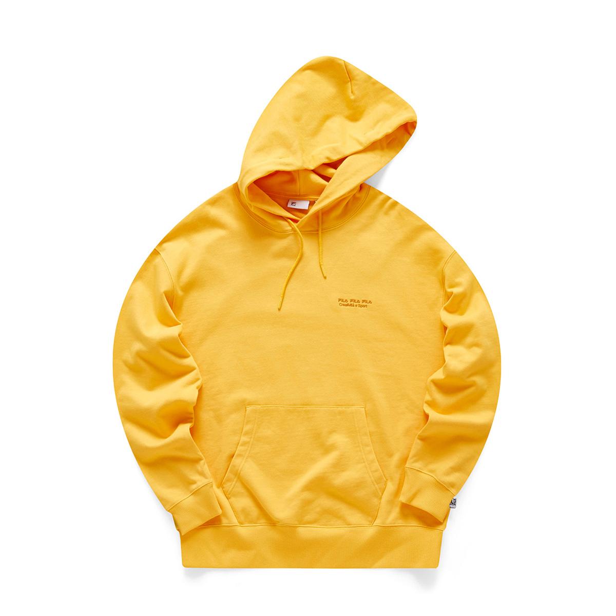 FILA 斐乐 女士运动卫衣 F71U048206F-FYE 稻黄色 M