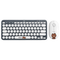 logitech 罗技 K380键盘+ Pebble布朗熊鼠标 无线键鼠套装