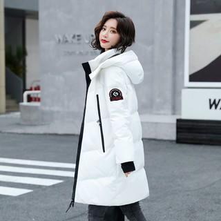 高梵中长款白鹅绒极寒保暖羽绒服