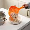 日本进口家用加厚过滤勺非硅胶漏勺过滤网大漏勺加大号捞面勺笊篱